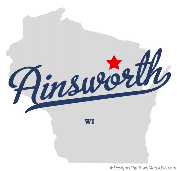 Map of Ainsworth Wisconsin WI