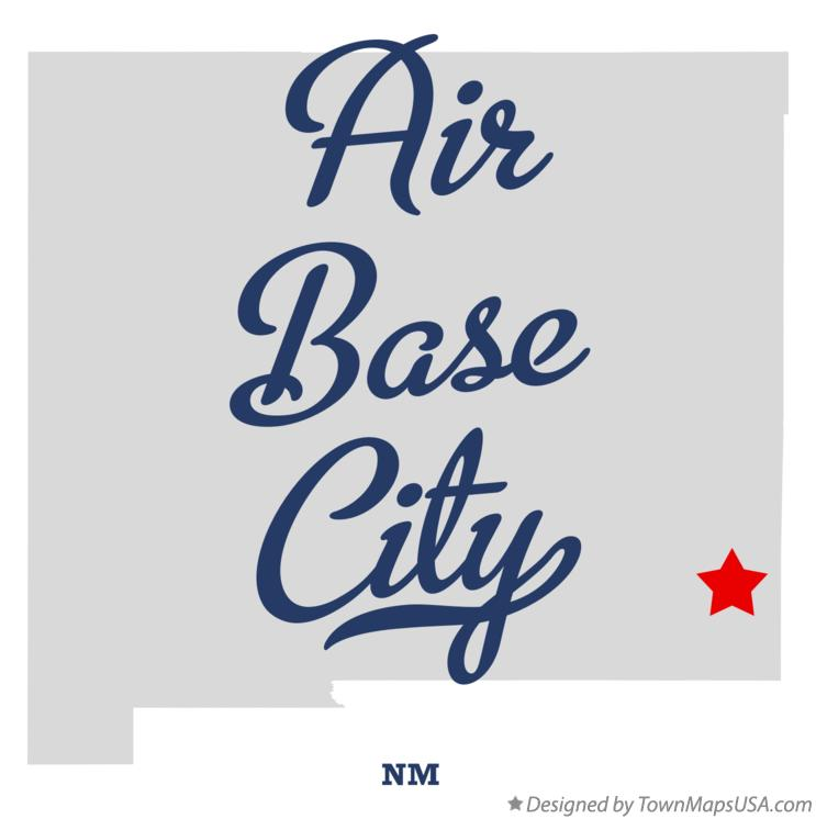 Map of Air Base City New Mexico NM