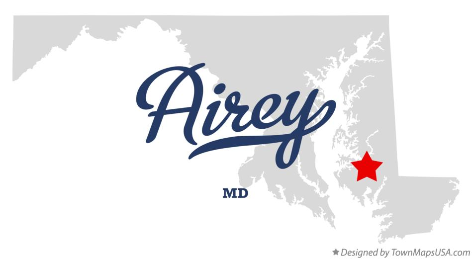 Map of Airey Maryland MD