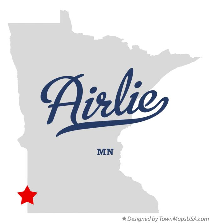 Map of Airlie Minnesota MN