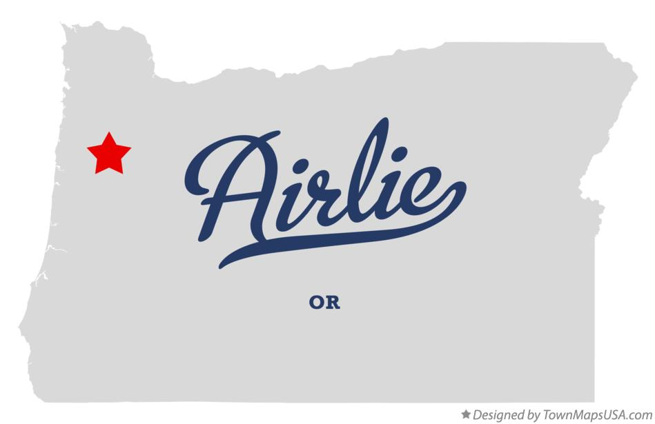 Map of Airlie Oregon OR