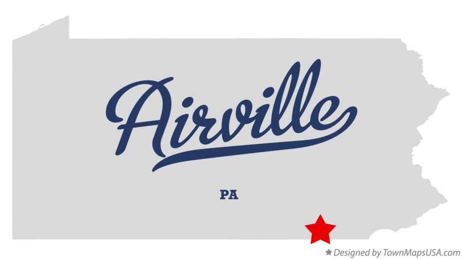 Map of Airville Pennsylvania PA