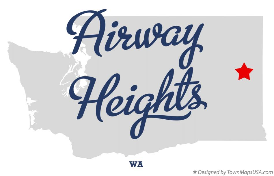 Map of Airway Heights Washington WA