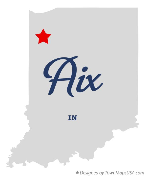 Map of Aix Indiana IN