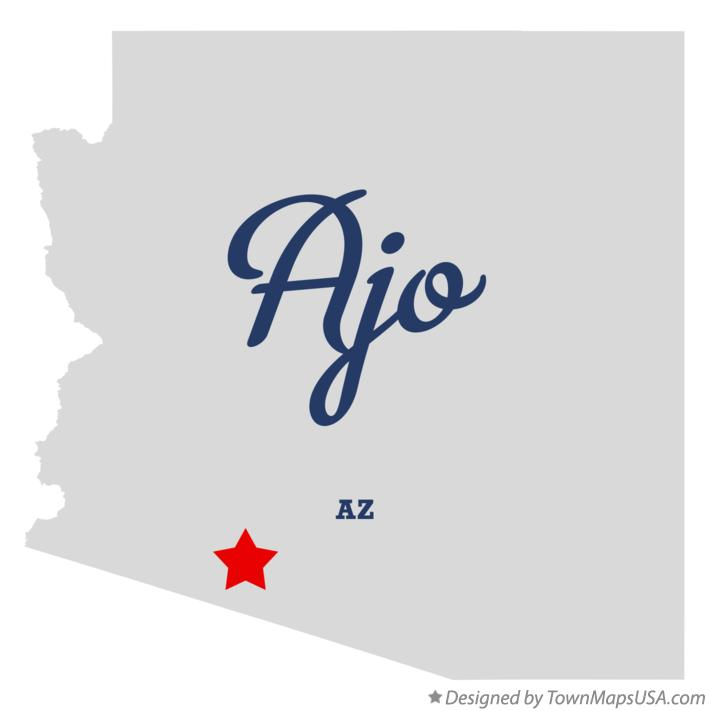 Map of Ajo Arizona AZ