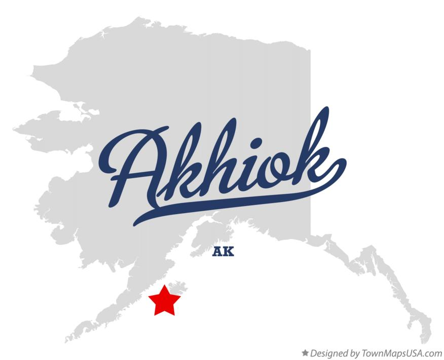 Map of Akhiok Alaska AK