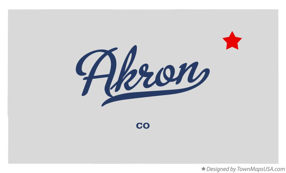 Map of Akron Colorado CO