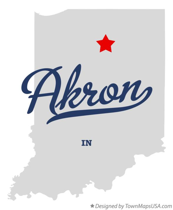 Map of Akron Indiana IN