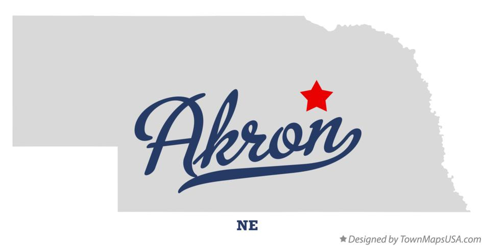 Map of Akron Nebraska NE