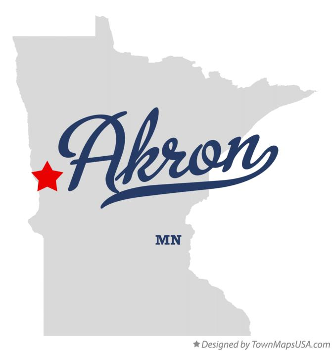 Map of Akron Minnesota MN