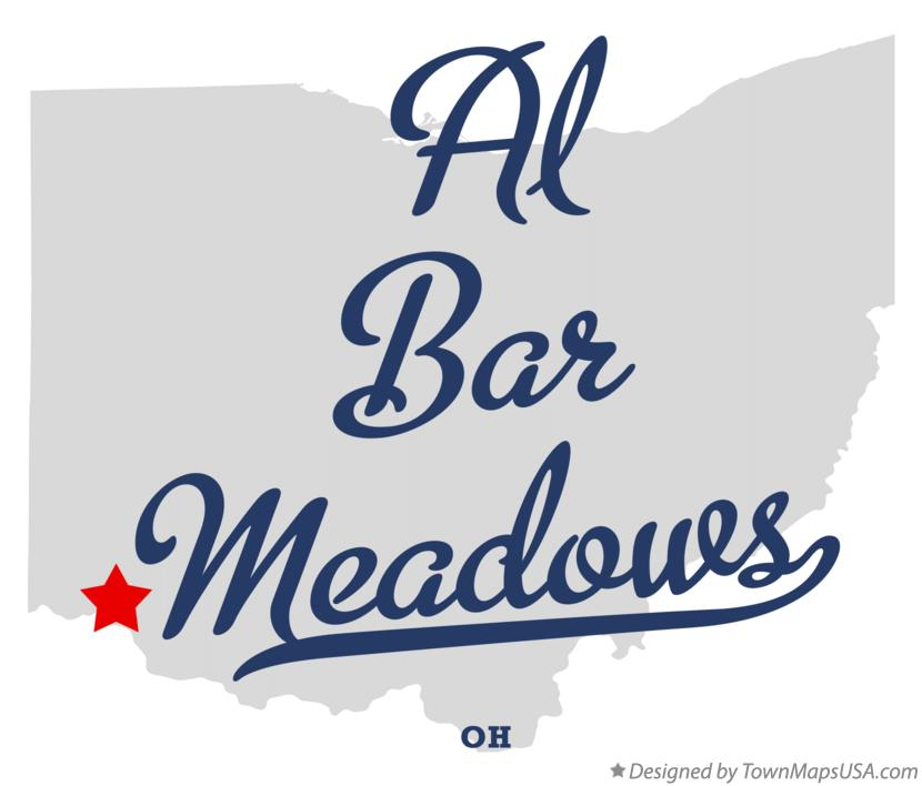Map of Al Bar Meadows Ohio OH
