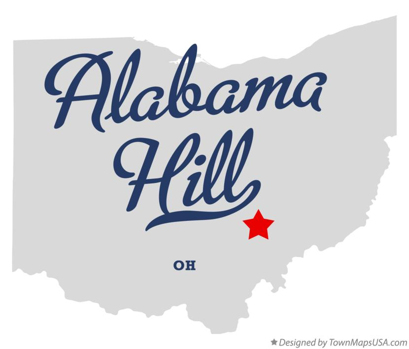Map of Alabama Hill Ohio OH