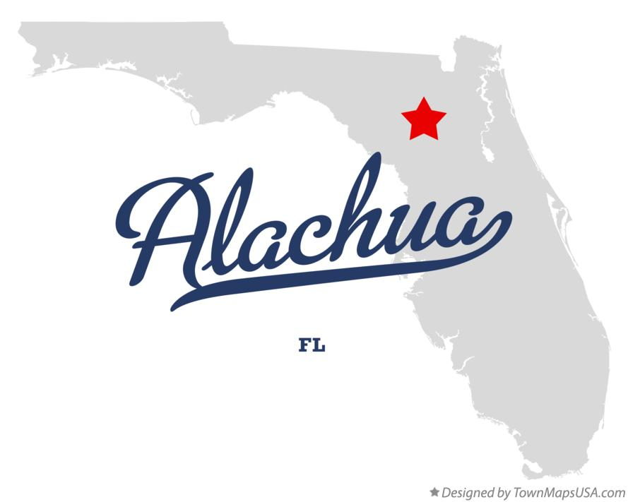 Map of Alachua Florida FL
