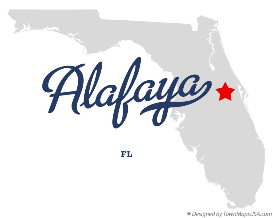 Map of Alafaya FL Florida