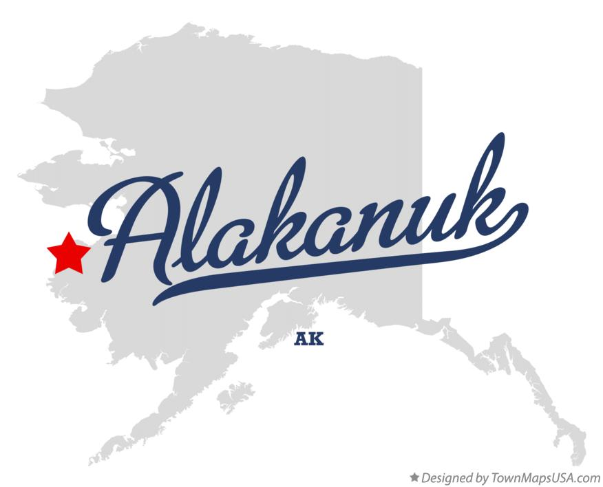 Map of Alakanuk Alaska AK