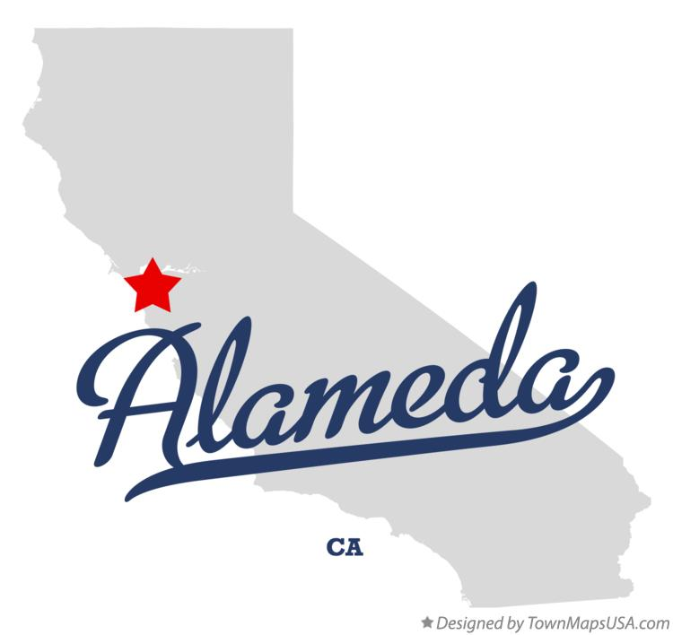 Map of Alameda California CA