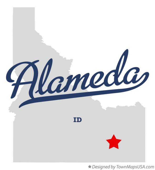 Map of Alameda Idaho ID