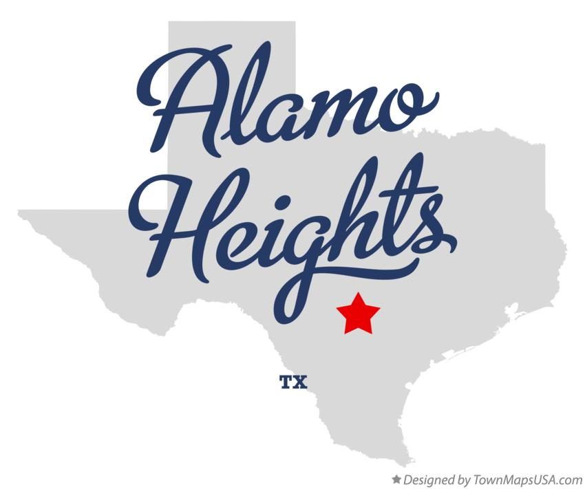 Map of Alamo Heights Texas TX