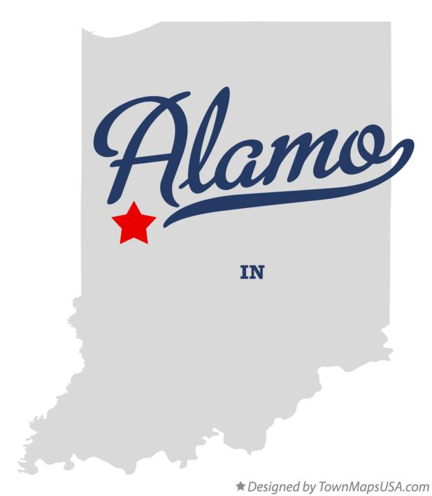 Map of Alamo Indiana IN