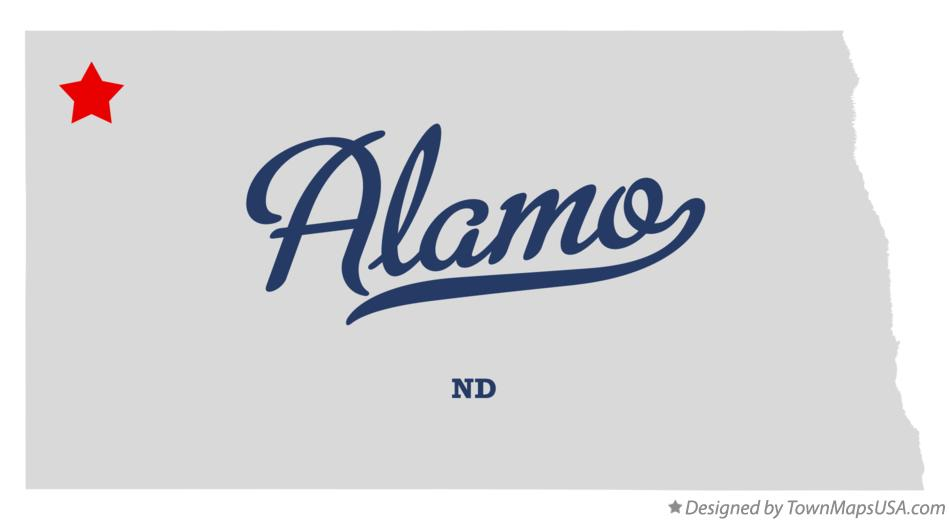 Map of Alamo North Dakota ND