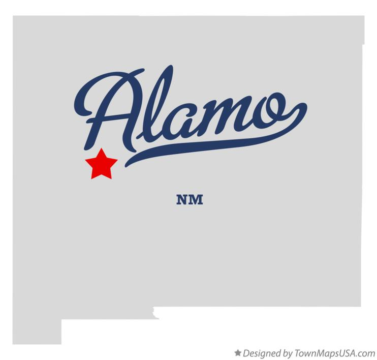 Map of Alamo New Mexico NM