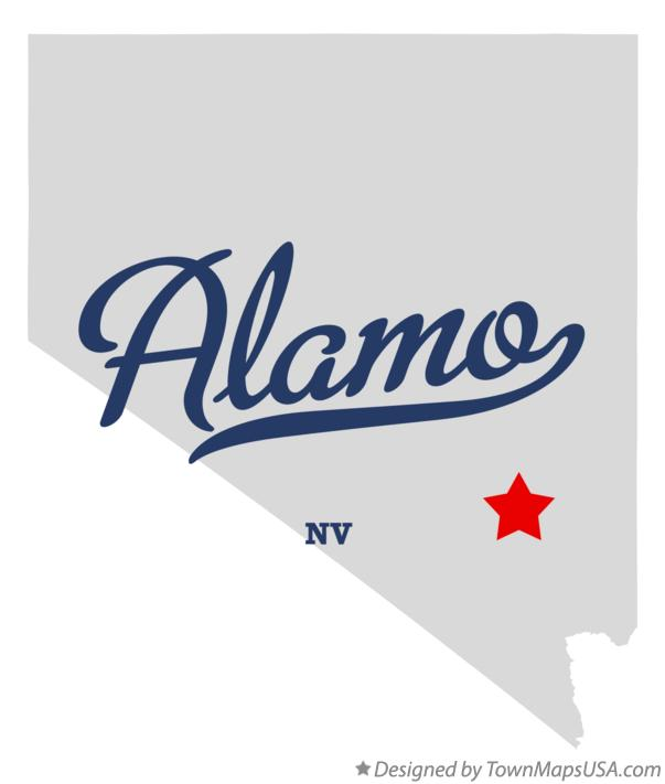 Map of Alamo, NV, Nevada Alamo Nevada Map on