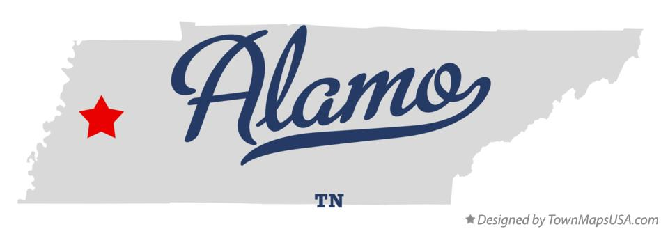 Map of Alamo Tennessee TN