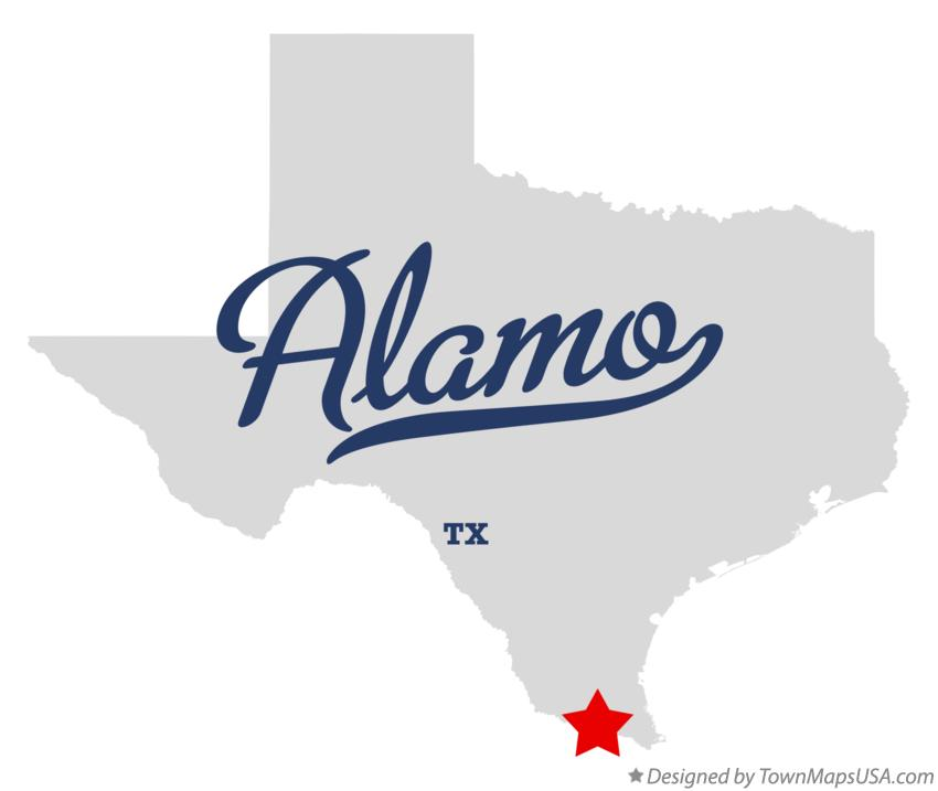 Map of Alamo Texas TX