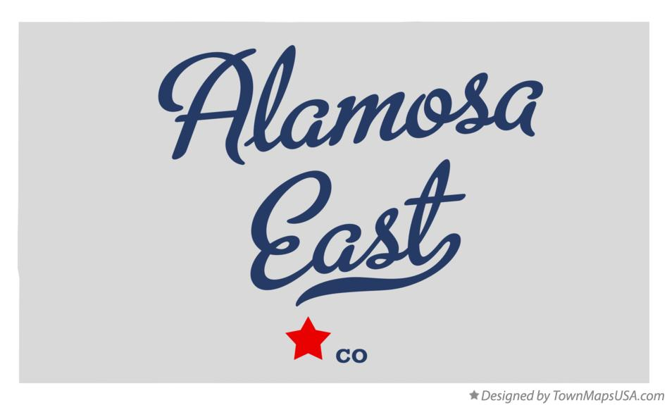 Map of Alamosa East Colorado CO