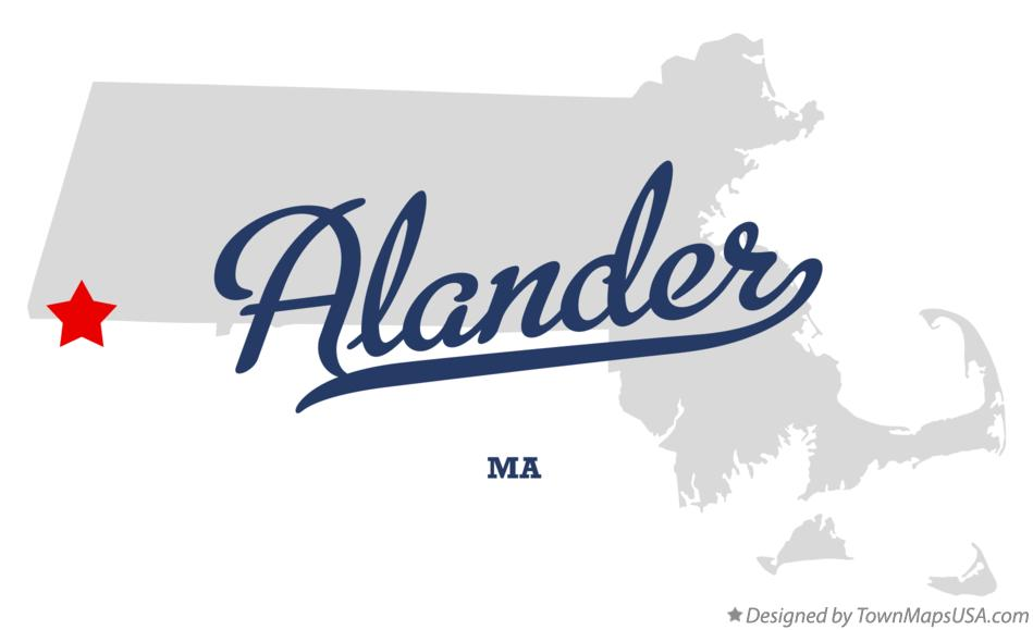 Map of Alander Massachusetts MA