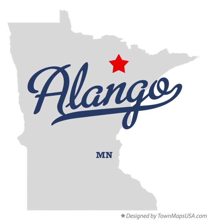 Map of Alango Minnesota MN