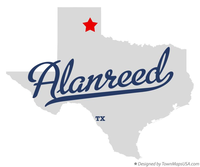 Map of Alanreed Texas TX