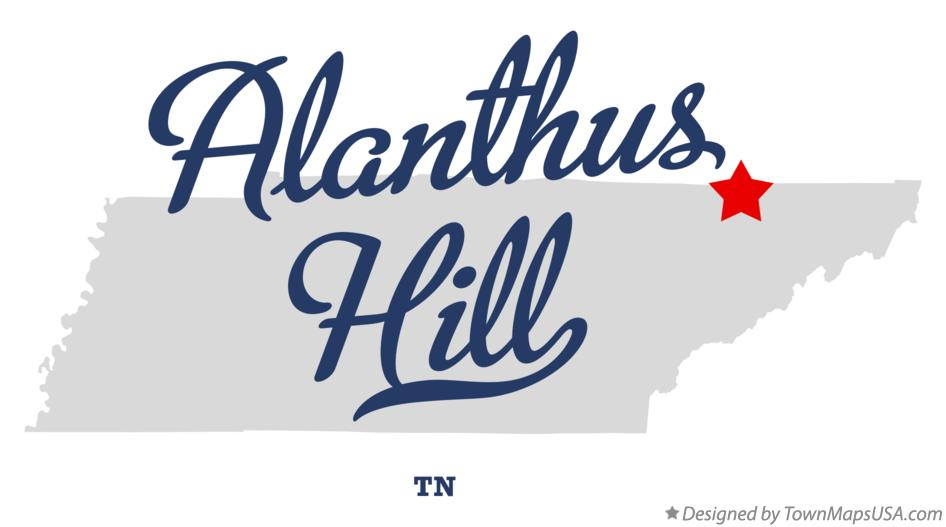 Map of Alanthus Hill Tennessee TN