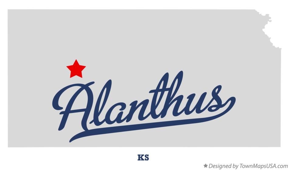 Map of Alanthus Kansas KS