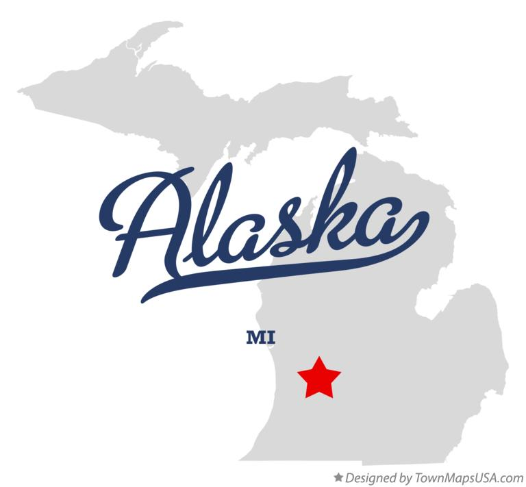 Map of Alaska Michigan MI