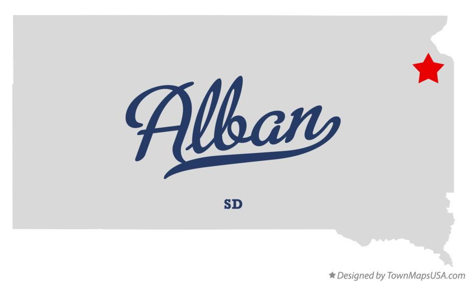 Map of Alban South Dakota SD