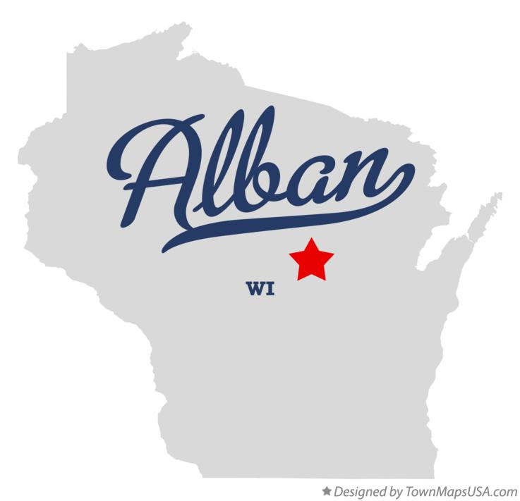 Map of Alban Wisconsin WI