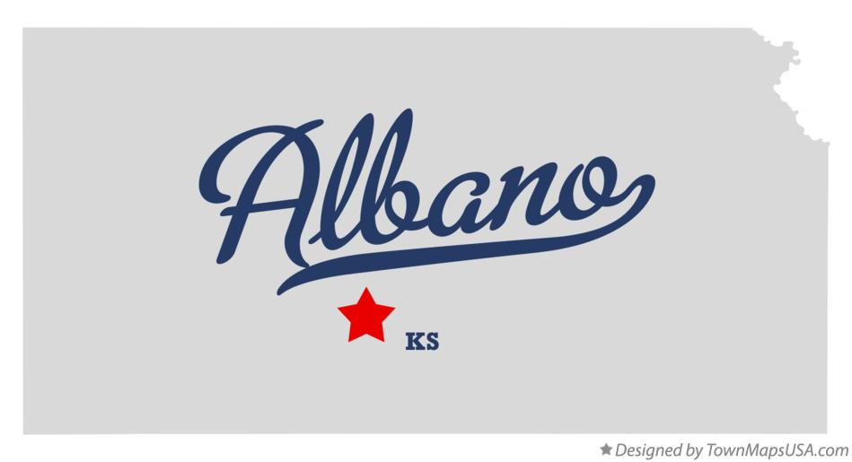 Map of Albano Kansas KS