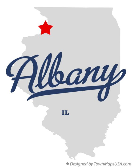 Map of Albany Illinois IL