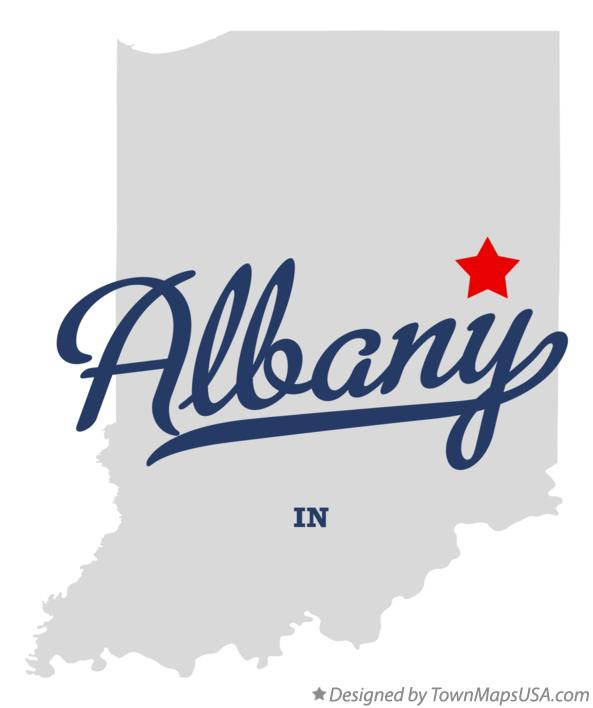 Map of Albany Indiana IN