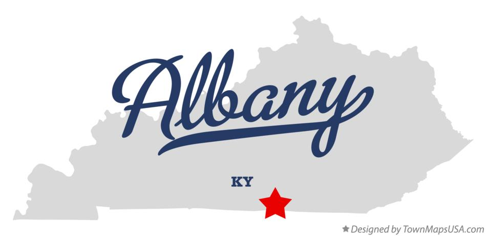 Map of Albany Kentucky KY