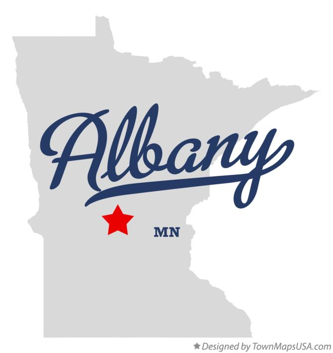 Map of Albany Minnesota MN