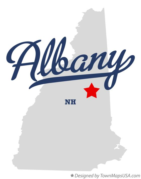 Map of Albany New Hampshire NH