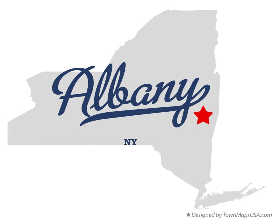 Map of Albany, NY, New York