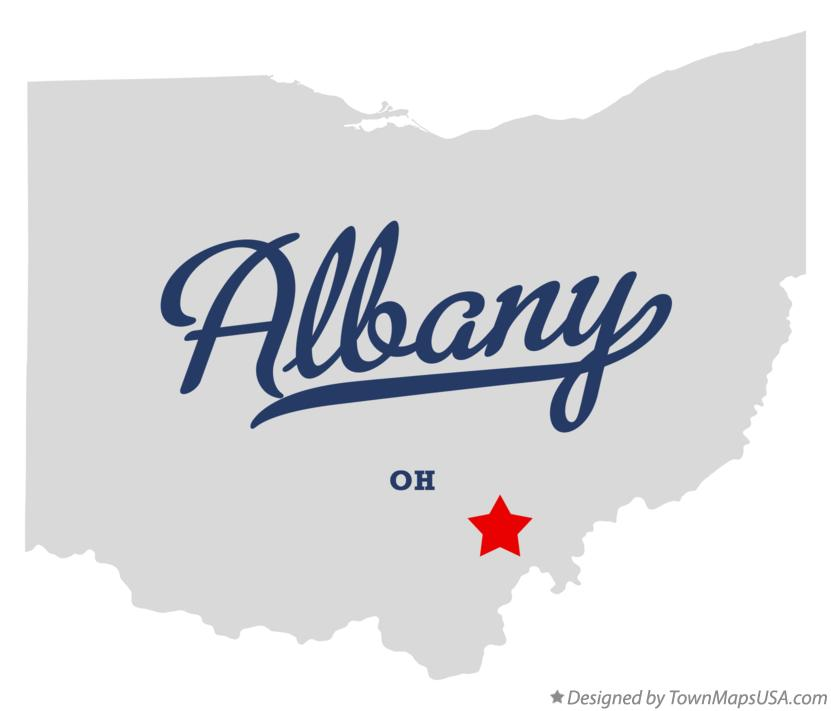 Map of Albany Ohio OH
