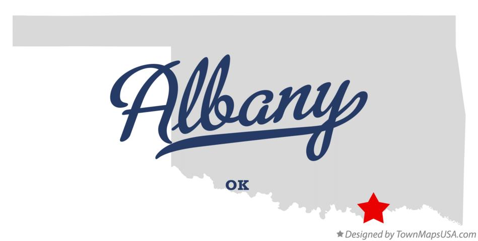 Map of Albany Oklahoma OK