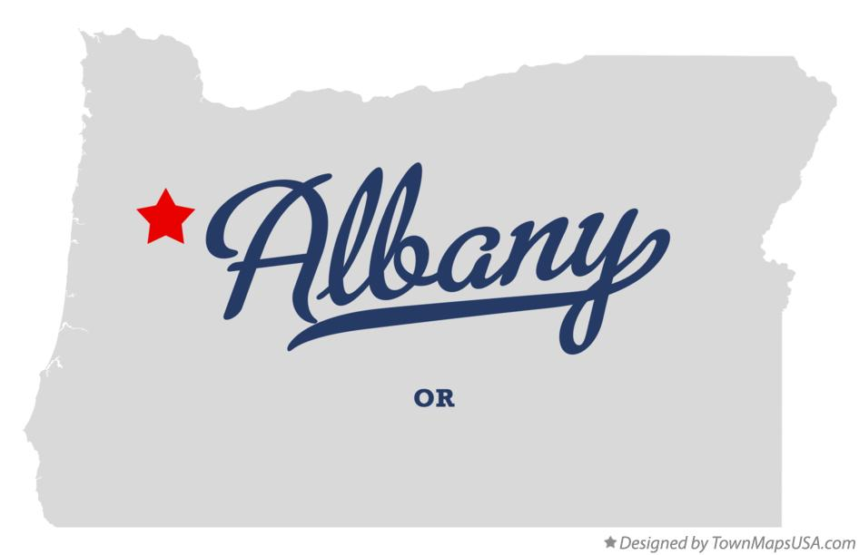 Map of Albany Oregon OR