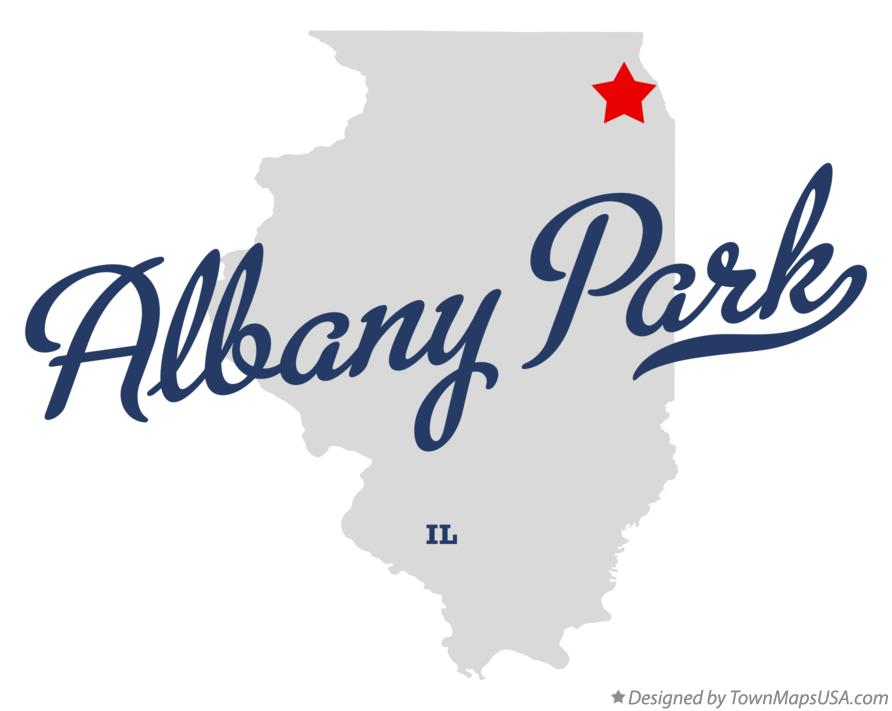 Map of Albany Park Illinois IL