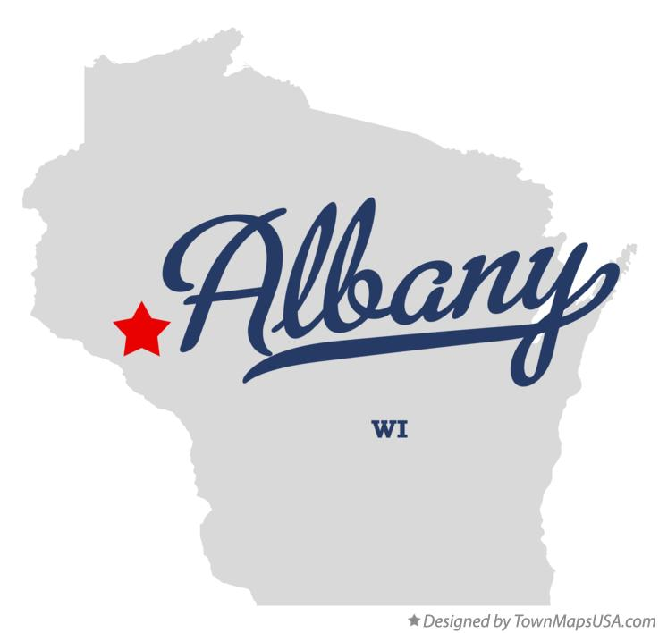 Map of Albany Wisconsin WI