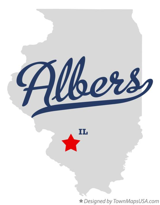 Map of Albers Illinois IL